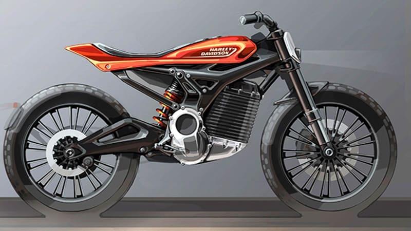 Esboço de mais um modelo elétrico na linha Livewire de motos elétricas