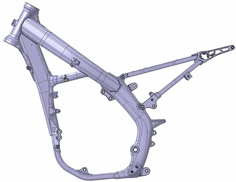 Chassi da Honda CRF450R 2019