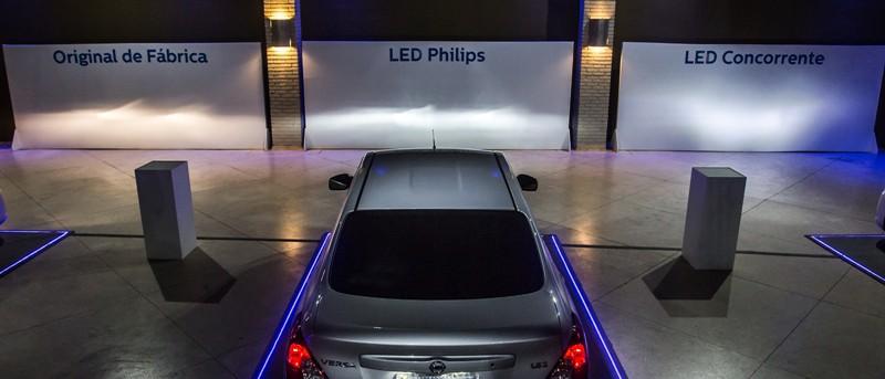 A troca da lâmpada original por LED ou qualquer outra deve manter a linha de corte correta para o veículo para não comprometer a segurança - sua e dos outros