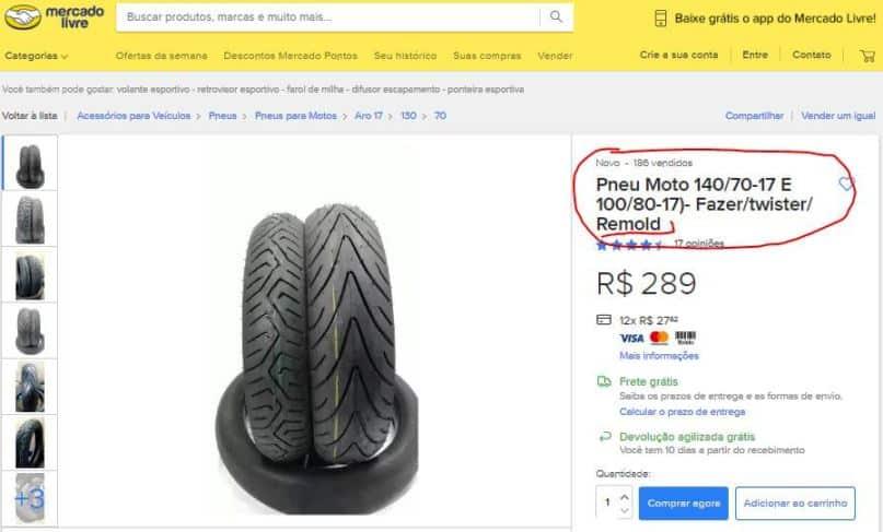 Apesar de ser ilegal, é muito fácil encontrar pneus reformados - recauchutados, remold, é tudo a mesma coisa de acordo com a lei