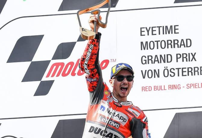 MotoGP na Áustria: Lorenzo vence terceira pela Ducati
