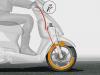 O MiniMAB em funcionamento em um pequeno scooter; mais segurança na frenagem de emergência