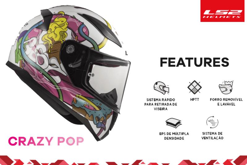 LS2 leva qualidade aos capacetes infantis com o LS2 Rapid Mini. Disponível com cascos de 48 a 52, modelo tem preço sugerido de R$ 599,90