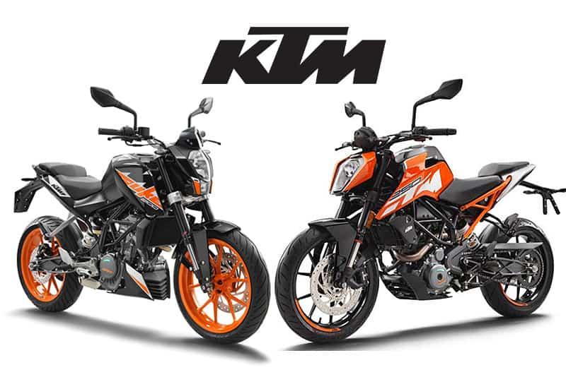 Com 200 DUKE e 250 DUKE lado a lado as diferenças entre o modelo 2015 e o 2017 ficam evidentes. A nova moto é mais potente, tem novo chassi e adota identidade visual da 1290 SUPERDUKE