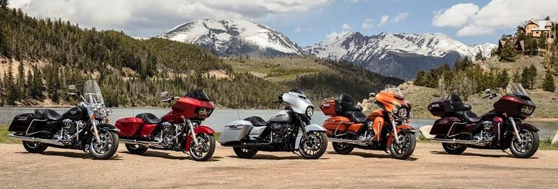 Modelos da família Touring da Harley-Davidson estão todos em oferta