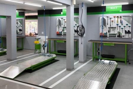 Oficina completa para atender toda a linha Kawasaki
