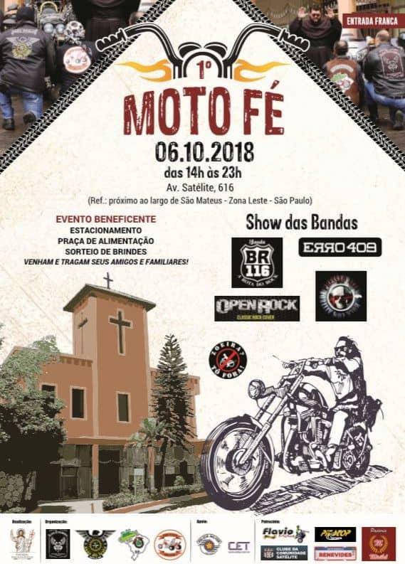 Cartaz de promoção do 1º Moto Fé