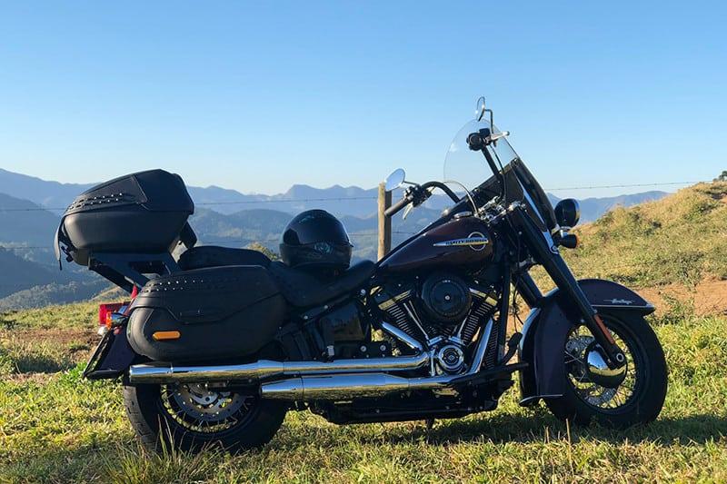 Quem acompanhou a viagem foi uma Harley-Davidson Heritage Classic 2018. Combinou com a paisagem?