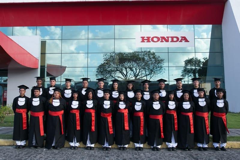 A 12ª turma formada pela Honda: portas abertas para o mercado de trabalho
