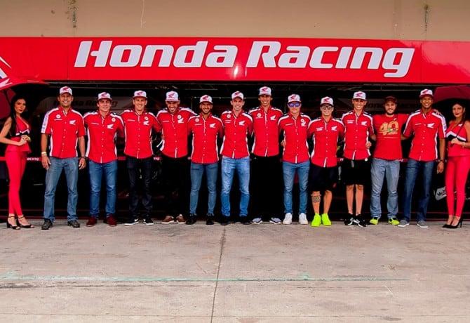 Honda celebra a conquista de 21 títulos em 2018