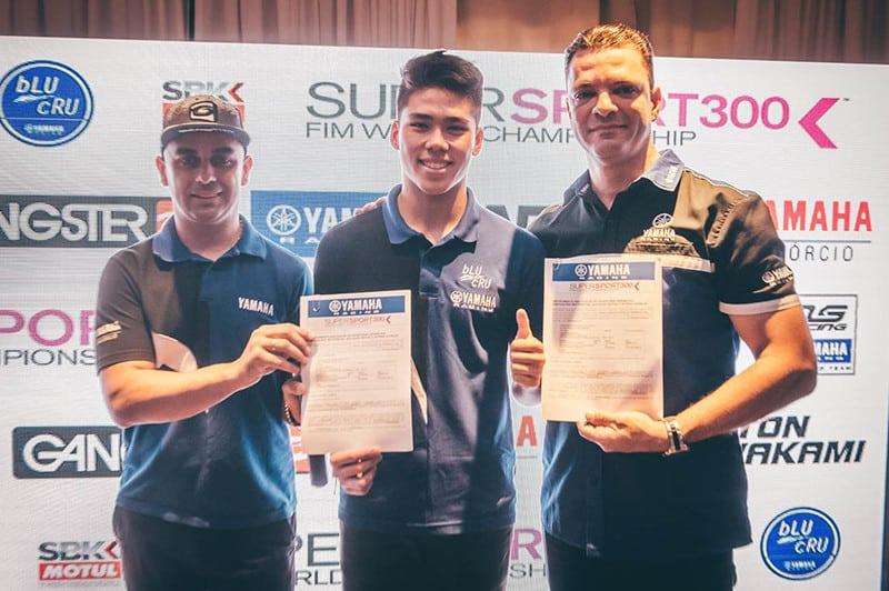 Com apoio da Yamaha do Brasil, jovem Tom Kawakami irá representar o País na categoria de 300 cilindradas do Mundial de SuperBike