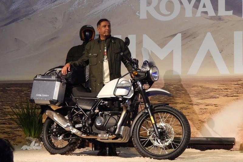 Arun Gopal durante a apresentação da Royal Enfield Himalayan, no final de 2018: promessa de 10 lojas até o final de 2019; faltam apenas oito