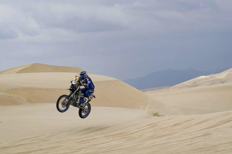 Xavier de Soultrait garantiu a vitória do terceiro dia para a Yamalube Yamaha Official Rally Team - Foto: Dakar/DPPI