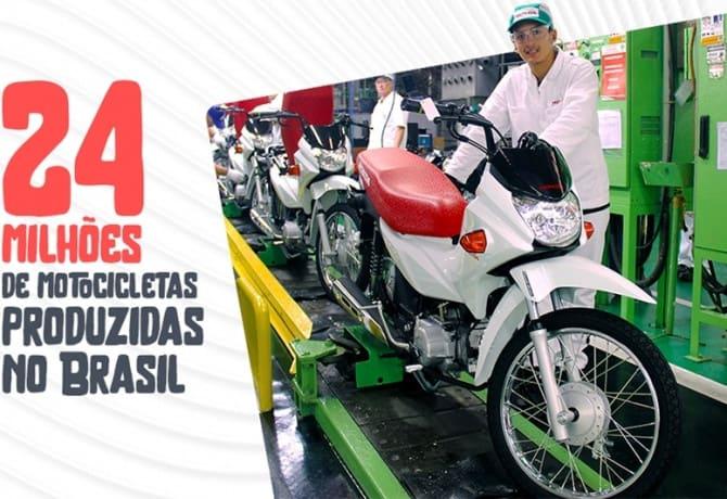 Honda chega a 24 milhões de motos produzidas no Brasil