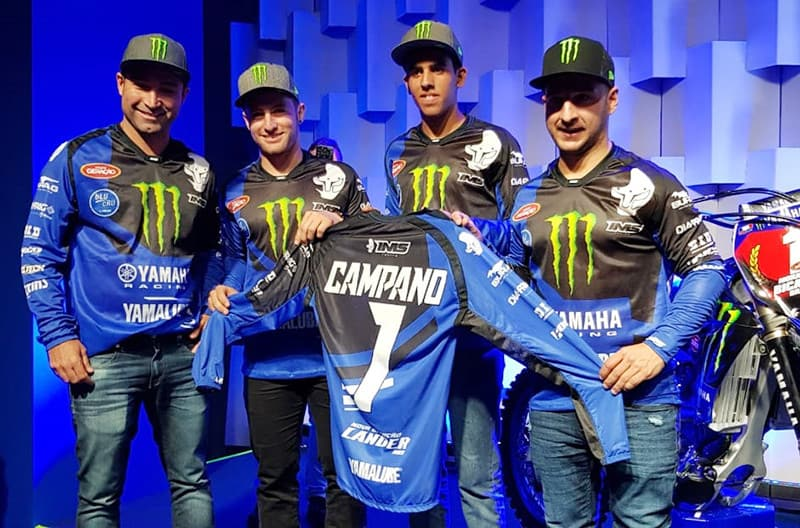 Time de motocross da Yamaha tem Fabio Santos, Paulo Alberto, Tallys Nathan e Carlos Campano