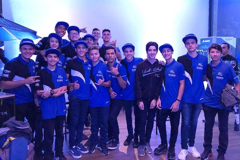 Jovens talentos que estarão na Yamalube R3 Cup. Categoria integra o SuperBike Brasil