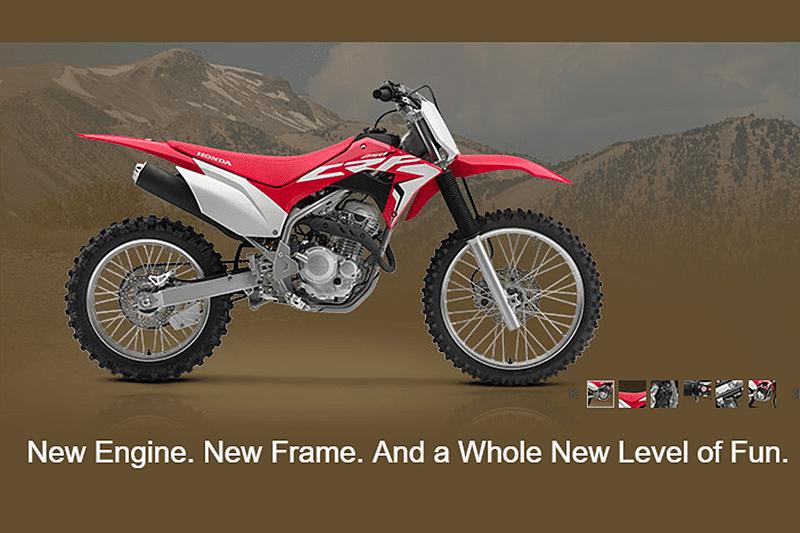 Com 'Novo motor. Novo chassi. E um novo nível de diversão', CRF 250F está à venda nos Estados Unidos (foto) e Austrália