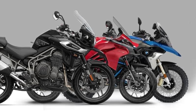 Três marcas de motos bigtrail para alugar: Triumph, Ducati e BMW