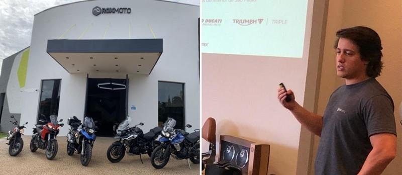 Lucas Ozi, um dos sócios do empreendimento, explica o novo conceito: serviço e lazer para motociclistas