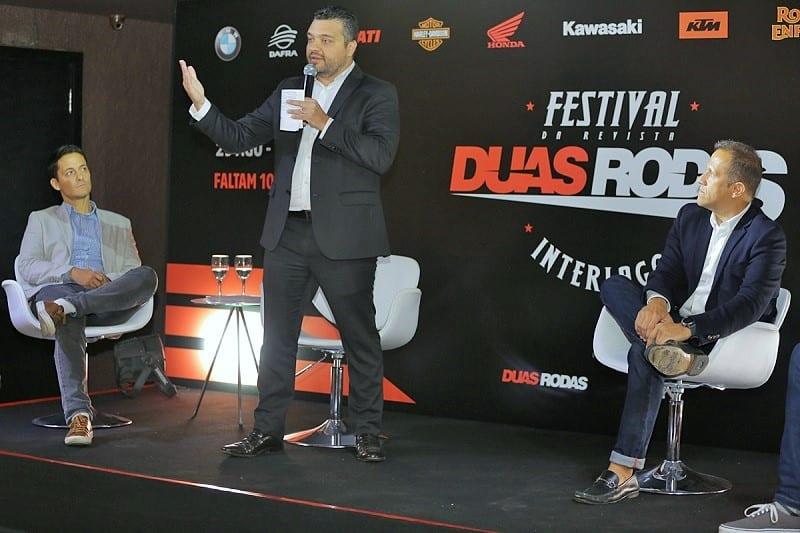 O secretário de Turismo de São Paulo, Orlando de Faria, enfatiza o Festival Duas Rodas como modelo de evento para movimentar o turismo da cidade e diminuir a ociosidade do Autódromo de Interlagos