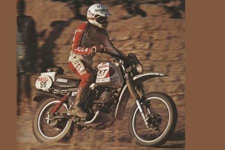 Cyril Neveu venceu as duas primeiras edições do Dakar com sua Yamaha XT500 (depois, venceu mais três de Honda)