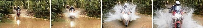 Um dos vários riachos que atravessamos com a Africa Twin na Serra da Canastra