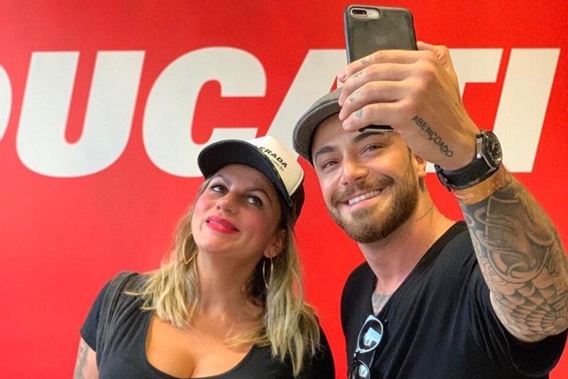 Momento tietagem: aquele selfie com o ator Felipe Titto