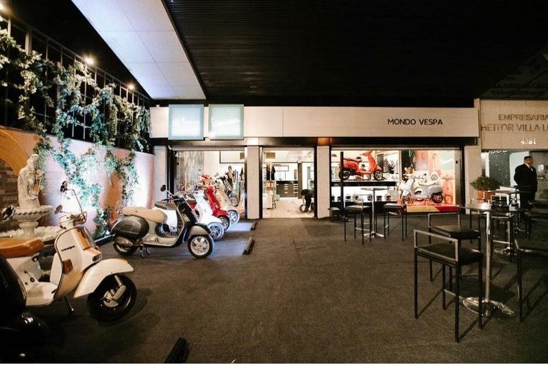 A boutique Vespa de Belo Horizonte, inaugurada em julho de 2019