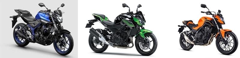 Qual das naked de entrada você prefere? Yamaha MT 03, Kawasaki Z400 ou Honda CB 500F?