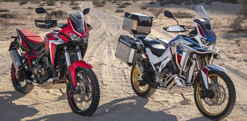 A nova Africa Twin 1100 foi apresentada no exterior. Modelo tem versões automáticas e manuais, além da standard (D) e Adventure Sports (E)