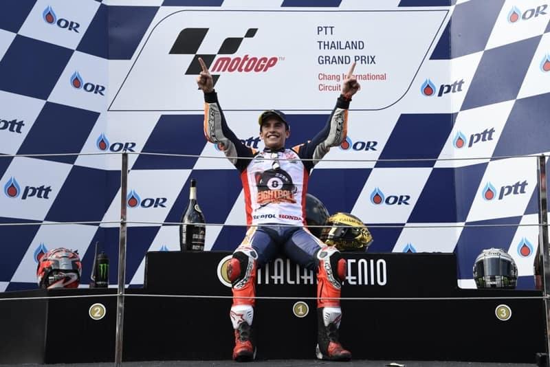 Marc Márquez celebra seu 6º título na MotoGP e o 8º no mundial de motovelocidade