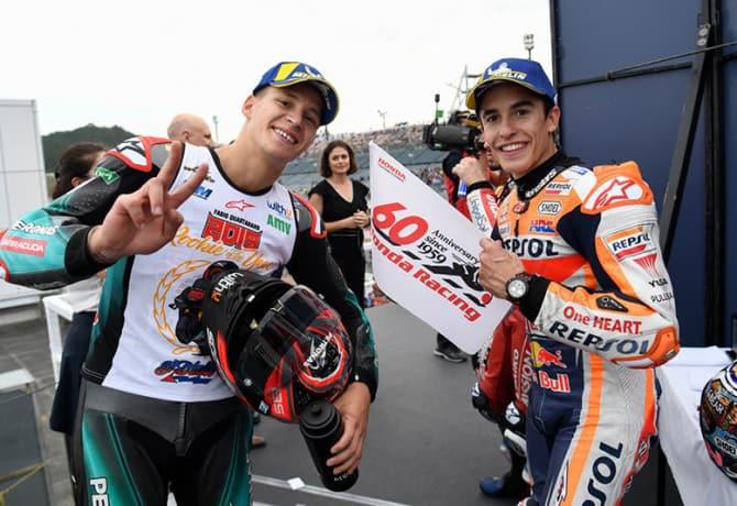 Márquez e Quartararo fazem nova 'dobradinha' na MotoGP