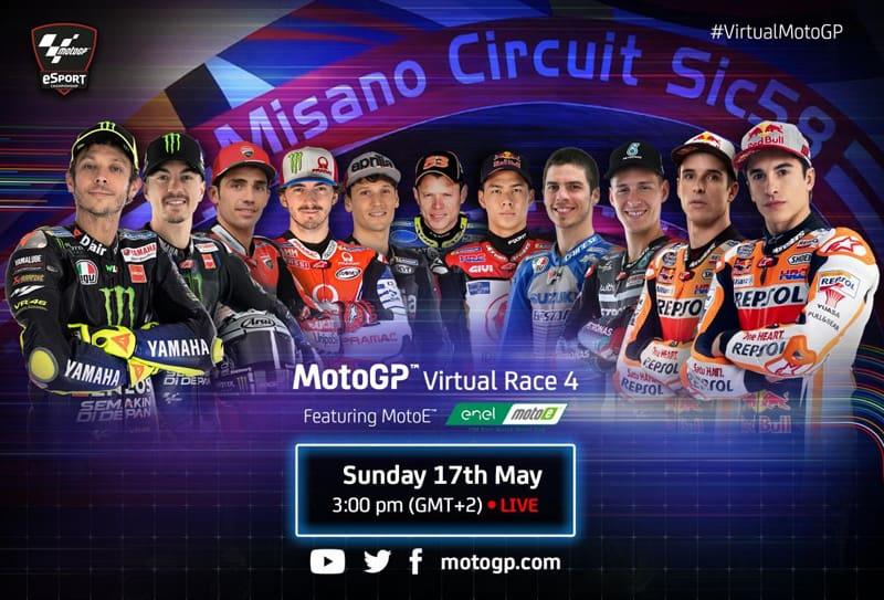 Quarta Virtual Race da MotoGP acontece neste domingo, 17 de maio. Saiba como assistir