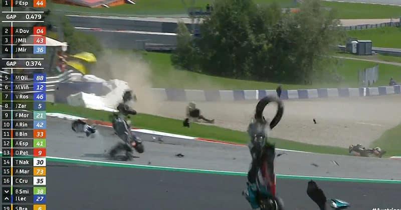 MotoGP da Áustria: acidentes (veja) e vitória de Dovi - Motonline